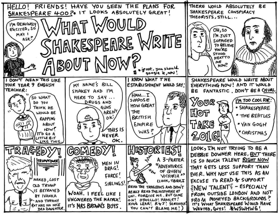What would Shakespeare write about in 2016?